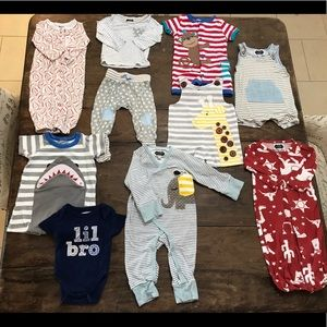 Lot of 9 Baby Boy Mudpie Outfits Clothes